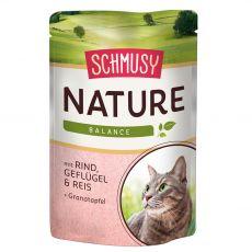 Schmusy Nature Hrană umedă de vită și păsări de curte 100 g