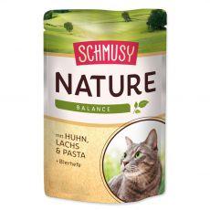 Schmusy Nature Hrană umedă de pui și somon 100 g