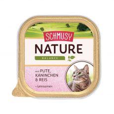 Schmusy Nature Tavă de curcan și iepure 100 g