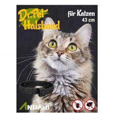 Dr.Pet zgardă antiparazitară pentru pisici NEAGRĂ 43 cm