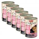Conservă cu carne de vită, curcan şi creveţi CARNY ADULT 6 x 400 g