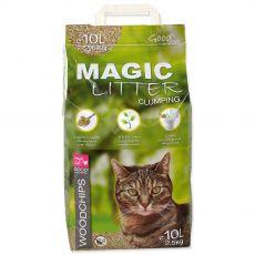 Peleți pentru pisici Magic Cat Litter Woodchips 10 l / 4,3 kg