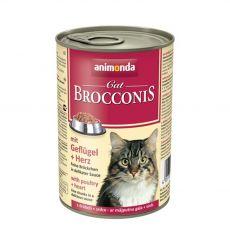 Animonda Cat BROCCONIS cu carne și inimi de pasăre 400 g