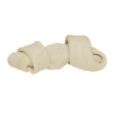 Os pentru câini înnodat - alb 110g, 16cm