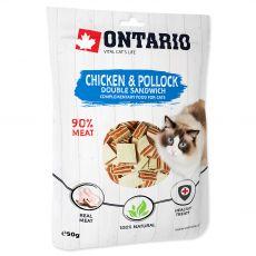 Ontario Cat Sandwich dublu cu pui & cod negru 50 g