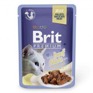 Pungă BRIT Premium Cat Vită în jeleu 85 g