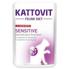 Kattovit Sensitive Pungă de pui + rață 85 g