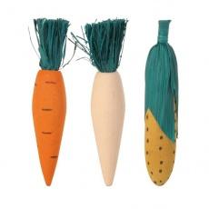 Jucărie din lemn pentru rozător - 3 buc legume - 10 cm