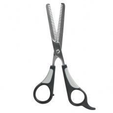 Foarfecă pentru rărit firele de păr - cu vârf dublu, 18 cm