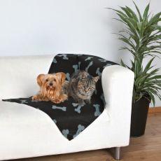 Tartan pentru câini și pisici - cu model de oase