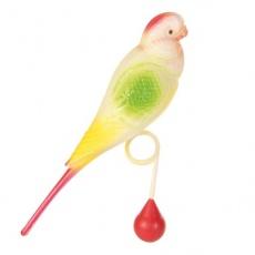 Jucărie pentru păsări- PERUŞ cu MINGE 15 cm