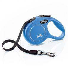 Lesă Flexi New Classic XS până la 12kg, bandă de 3m– albastru