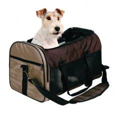 Geantă pentru transportarea câinilor și pisicilor - culoare maro, 31 x 32 x 52 cm