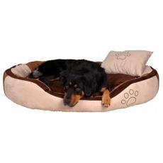 Pat pentru câini cu pernă – piele de căprioară, 60 x 50 cm