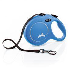 Lesă Flexi NEW CLASSIC lesă L pentru până la 50kg, bandă de 8m– albastru