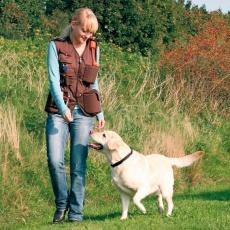 Vestă de activități pentru câini, de antrenament – maro, L