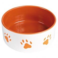 Bol ceramic pentru câini - portocaliu - 1.4l