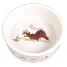 Castron din ceramică pentru pisici, cu model - 0,2 l