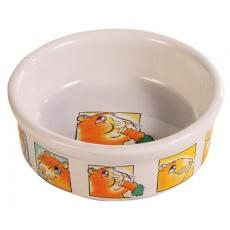 Castron hrană pentru cobai, din ceramică, cu model - 240 ml