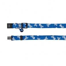 Zgardă de culoare albastră, pentru pisici-cu modele de craniu - 15 - 20 cm