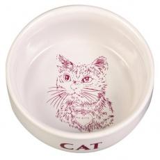 Castron din ceramică pentru pisici, cu model - 0,3 l