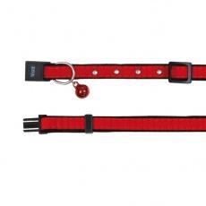 Zgardă pentru pisici în culoare roșie - 18 - 30 cm