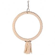 Jucărie pentru papagal - inel din cablu, 25 cm