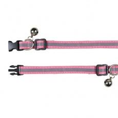 Zgardă reflectorizantă pentru pisici, culoare roz - 15 - 20 cm
