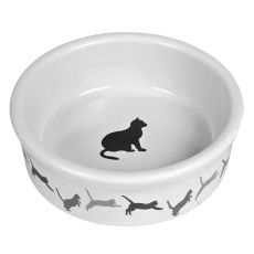 Castron din ceramică pentru pisici, cu model - 250 ml