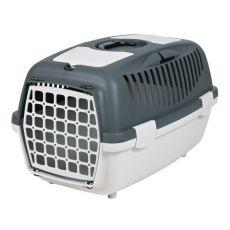 Cuşcă de transportat câinii de până la 8 kg - gri