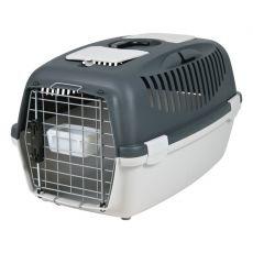 Cuşcă de transportat câinii de până la 12 kg - gri închis
