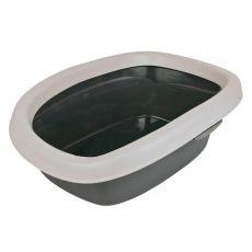 Toaletă cu margine pentru pisici CARLO - gri