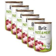 Brit Paté & Meat Conservă de rață 6 x 400 g