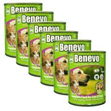 Hrană completă Benevo Duo pentru câini și pisici 6 x 369 g
