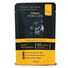 Fitmin Cat For Life Pliculeț cu carne de pui 85 g