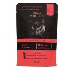 Fitmin Cat For Life Pliculeț cu carne de vită 85 g