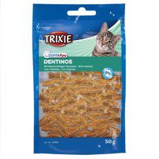 Bucățici de recompensă pentru pisici Dentinos - pentru dentiție, 50 g