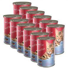 Conserva BEWI CAT Meatinis SOMON 12 x 400 g
