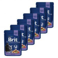 Pliculeț BRIT Premium Cat Cod Fish 6 x 100 g