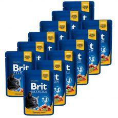 Pliculeț BRIT Premium Cat Salmon & Trout 12 x 100 g