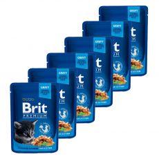 Pliculeț BRIT Premium Kitten Chicken Chunks 6 x 100 g