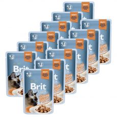 Pliculeț BRIT Premium Cat Delicate Fillets in Gravy with Turkey 12 x 85 g