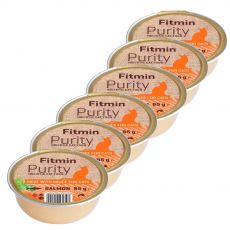 Fitmin Cat Purity Tavă de somon 6 x 85 g