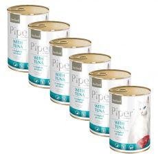 Piper Cat Sterilised conservă pentru pisici cu peşte ton 6 x 400 g