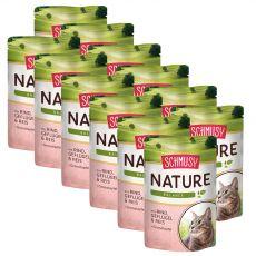 Schmusy Nature Hrană umedă de vită și păsări de curte 12 x 100 g