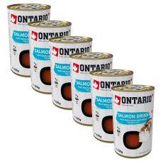 Hrană lichidă cu bucăți de somon Ontario Cat 6 x 135 g