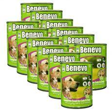 Hrană completă Benevo Duo pentru câini și pisici 12 x 369 g