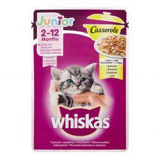 Whiskas Casserole Junior pliculețe cu pui 85 g