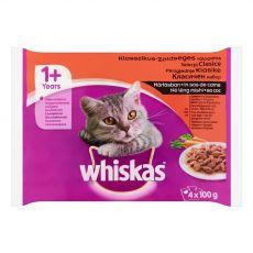 Whiskas Selecție clasică în suc propriu 4 x 100 g
