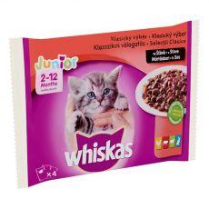 Whiskas Junior Selecție clasică în suc propriu 4 x 100 g